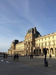 Picture of the Louvre Museum in Paris, France. It used to be a palace.
