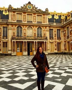 Picture of the gilded entrance to Versailles Palace in Versailles, France, outside of Paris.