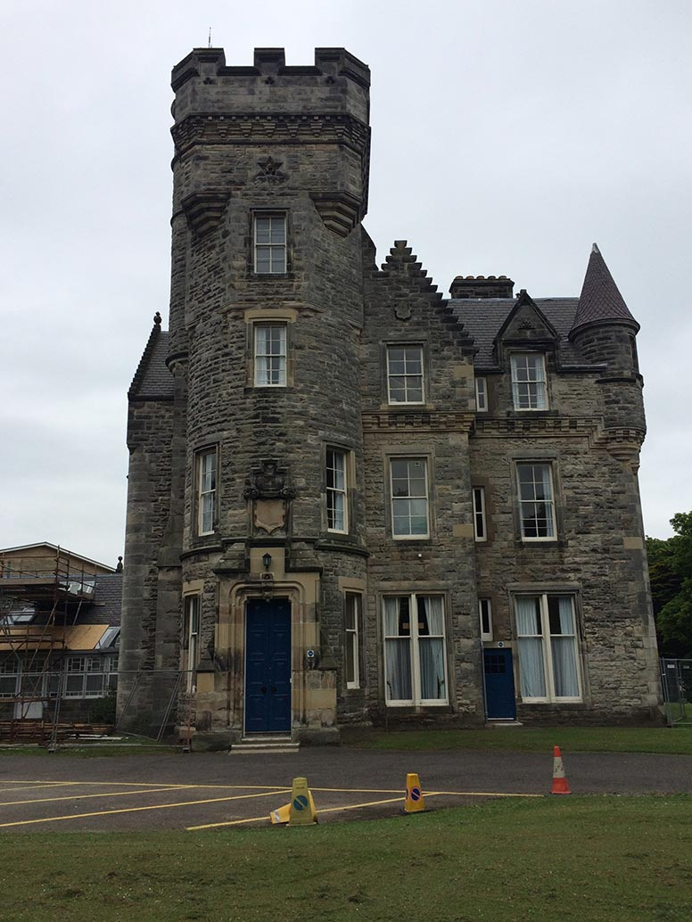 Wardlaw Castle, a student residence hall in the University of St. Andrews.