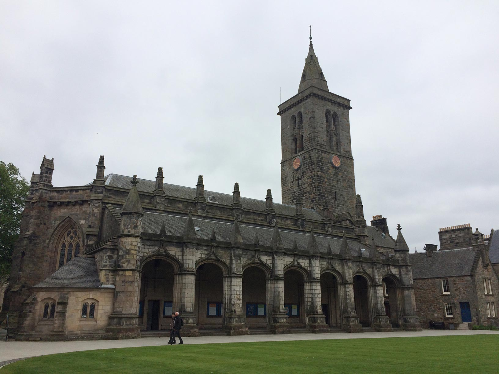 St. Salvator's cathedral on the quad of the University of St. Andrews.