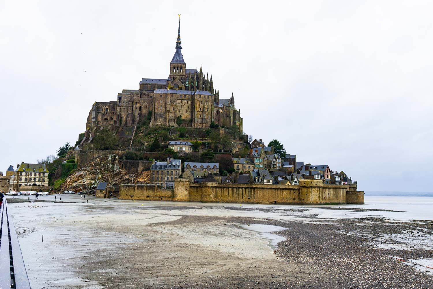 Mont Saint Michel Abbey in France.