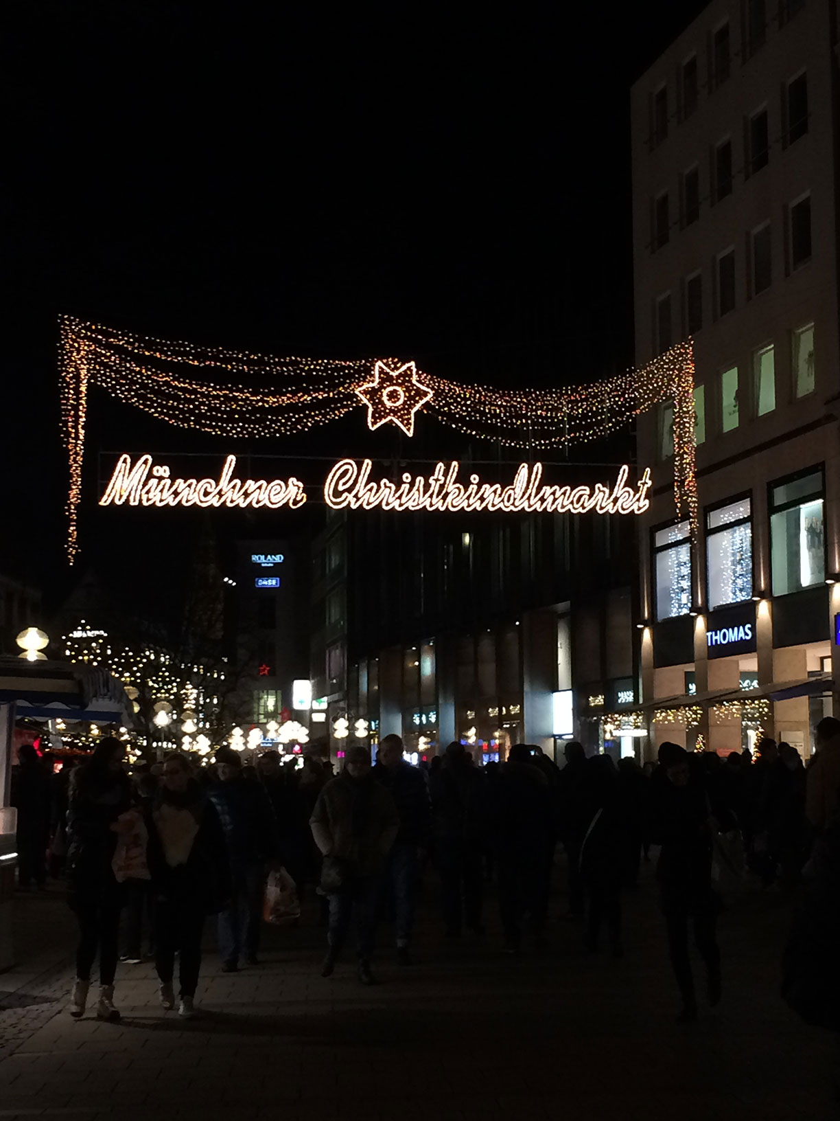 A Christmas Market sign in Munich, Germany.