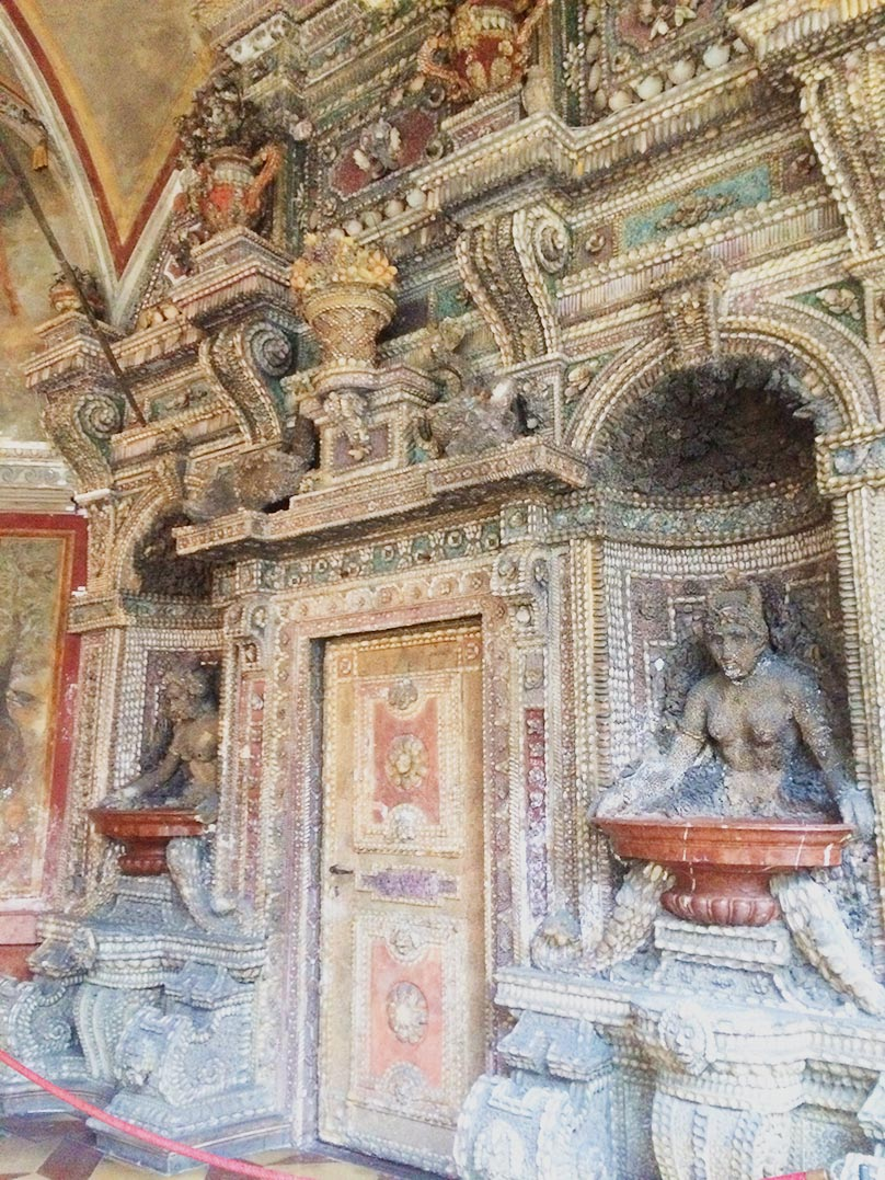 Decorations inside of Residenz Palace in Munich, Germany.