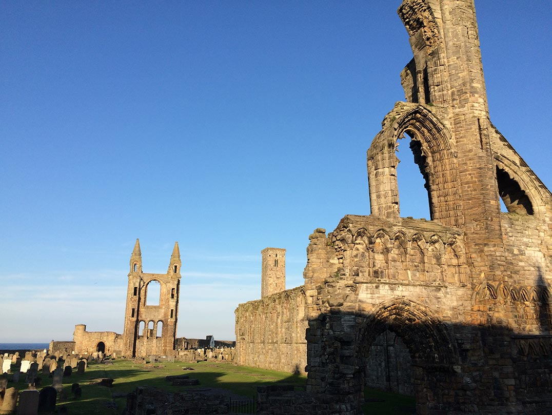 The ruins of St. Andrews Cathedral.